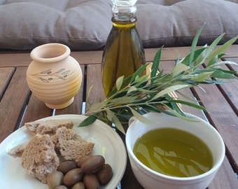 Extra virgin olive oil from the island of Crete, Creece