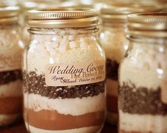 cocoa wedding favors -set of 15-