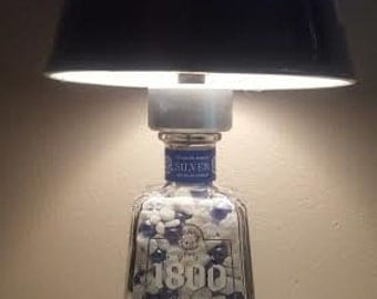 1800 Silver Tequila Lamp! Man Cave worthy!!
