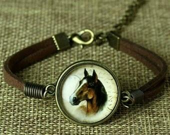 Glass pendant bracelet