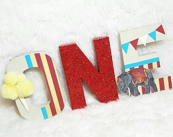Circus birthday letters - vintage circus birthday - Circus birthday decor -  1st birthday prop - 1st birthday circus - 1st birthday carnival