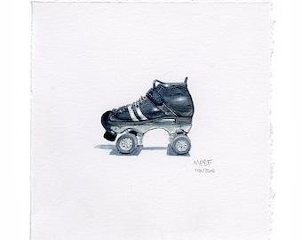 Small Reidell Roller Derby Skate Watercolor