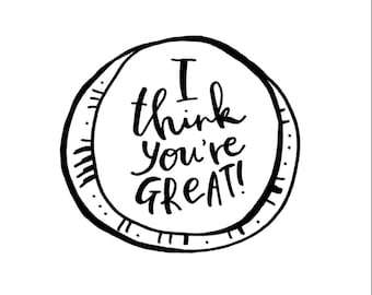 You're Great Card (Pack of 3)