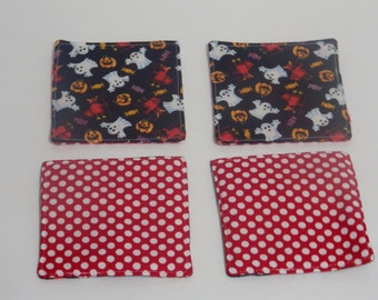 Fabric coasters, set of 4.