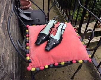 Sergio Rossi kitten heels black  UK size 7 EU size 40