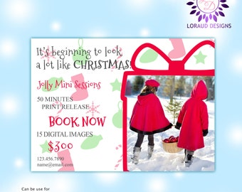 Instant Download! Christmas Digital Advertising Board! CHRISTMAS & HOLIDAYS Template flyers Photography sessions