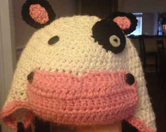 Cow Critter Hat