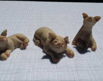 Quarry Critters - Set of Three - Pugsley, Pixy and Patch