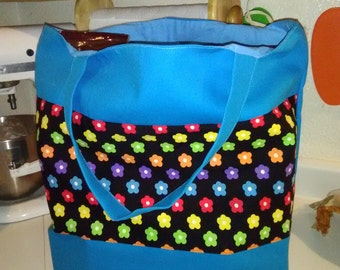 Reusable Canvas Grocery Tote Bag (Lined or Unlined)