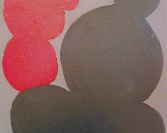 Abstract Painting: Capacity Study (red and gray)