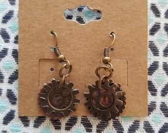 Gear earrings