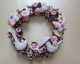 Wreath - Flowers and Birds