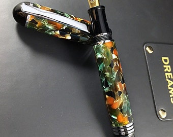 Custom Fountain Pen. Handmade Churchill Fountain Pen for the serious collector. The perfect Executive Gift or Desk Pen.