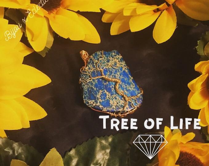 Dyed Jasper (Tree of Life) Pendant