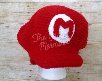 Super Mario Bros Crochet Hat Newborn Infant Baby Toddler Child Teen Adult  Photo Prop Halloween Costume 6b1ab62665d
