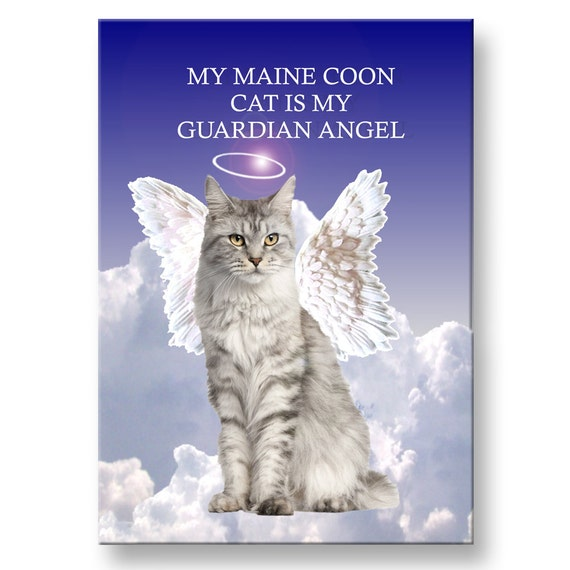 Maine Coon Cat Guardian Angel Fridge Magnet No 1