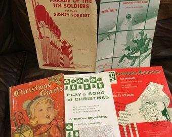Lot of Six Christmas Music Books