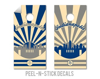 Indianapolis Football Cornhole Board Decals