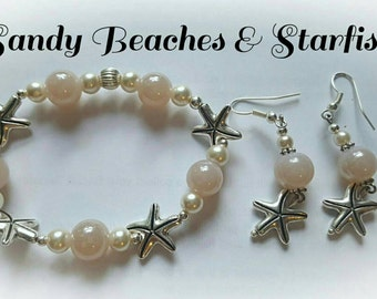 Sandy Beaches & Starfish Bracelet and Earring Set