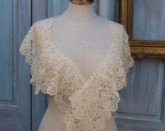 Vintage lace shawl