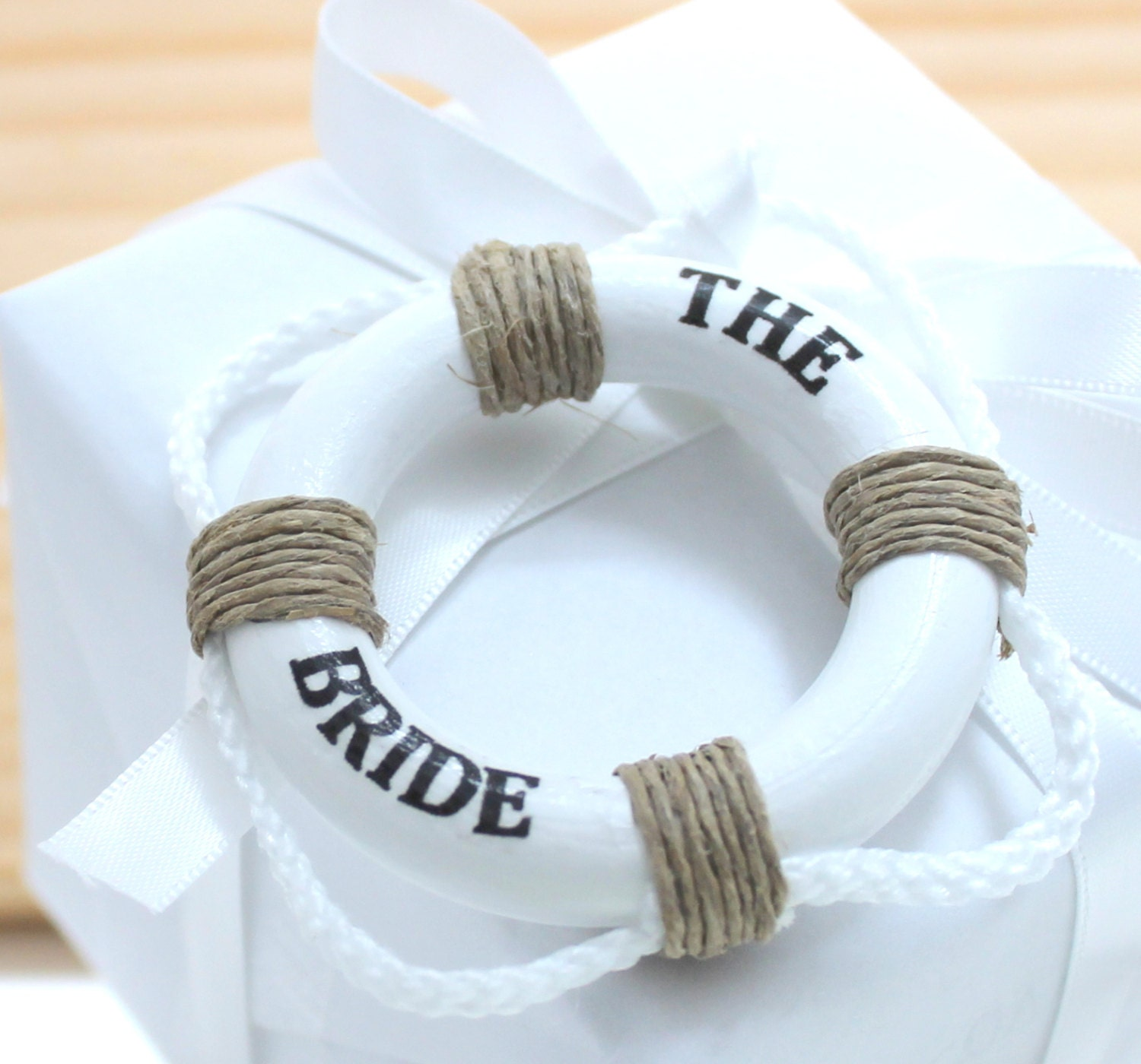 Nautical Wedding Gift Tags : Bride Tag Nautical Bride Wedding gift Tag Life Ring