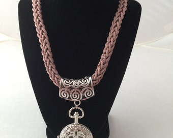 French Knitted Necklace