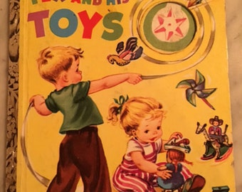 Tex and His Toys Little Golden Book  A Edition 1952