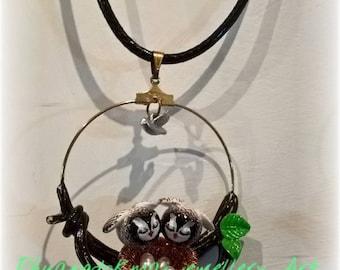 birds handmade necklace