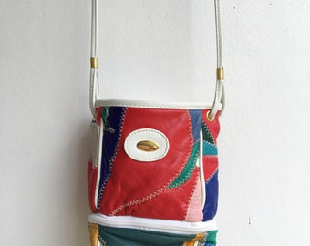 colorful patchwork purse