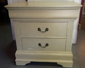 End table, night stand, Chalkpainted furniture