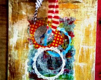Decorative Clipboard, Polka Dots on Clipboard, Colorful Clipboard