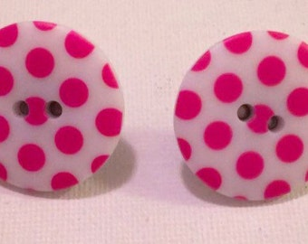 Pink Dot Earrings