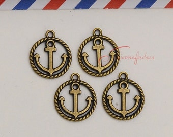 30PCS--18x15mm ,Anchor Charms, Antique bronze Nautical Anchor Charm pendant, DIY supplies,Jewelry Making JAS09995