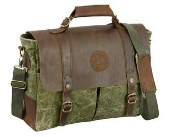 Mens Canvas Messenger Bag, Leather Messenger Bag, Laptop Messenger Bag. Leather Satchel Men Leather Bag Men Leather Canvas Messenger Bag