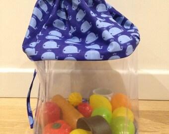 """Storage basket """"Blue Whales"""""""