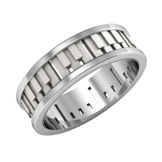 Items Similar To 14K Solid Gold Piano Ring, Piano Wedding