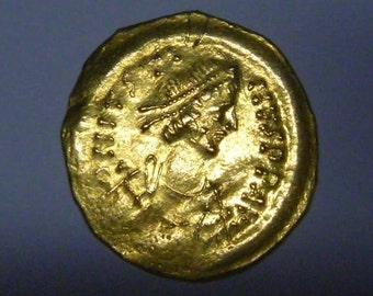 Ancient coin genuine! Gold coins! Byzantine Empire Justin I