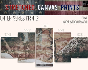 Elk America Stretched Canvas Prints