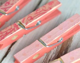 Decorative Clothes Pins (Pinks)