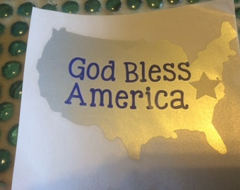 USA God Bless America quote