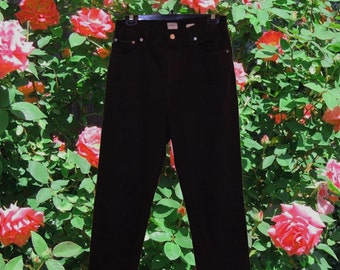 Calvin Klein Black Petite High Waisted Jeans Size 28