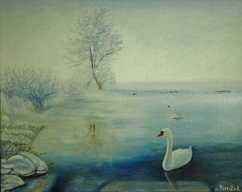 Peaceful Reflections Oil Painting