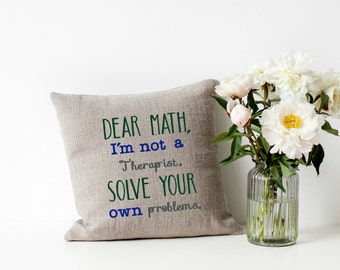 Funny Machine Embroidery Design Pillow Wall Art Teenager Teen Boy Girl Dear Math Original Digital File Instant Download 5x7 Hoop