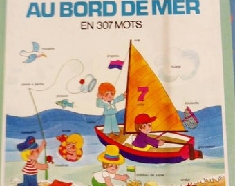 Farfeluches sea. french vintage book.  Vintage children's book.  70's.