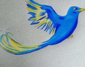 Self drawn picture blue Phönix