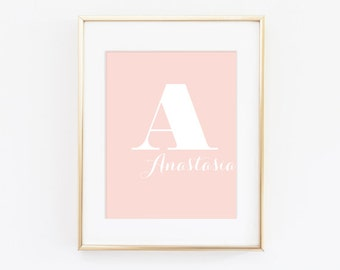 Name typography Kids Wall Print