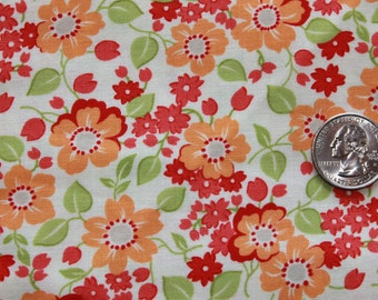 OOP HTF Bonnie and Camille Marmalade Cream Floral print FQ