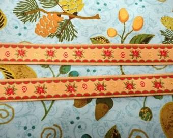 Ribbon Christmas flower 3 metres