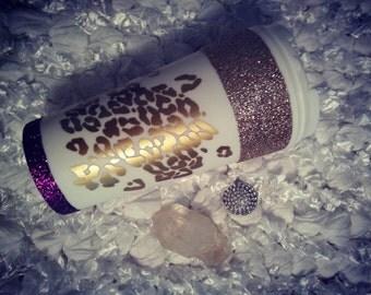 Cheetah Coffee Mug // Glitter Dipped Mug // Personalized Mug // Cheetah Print // Fancy