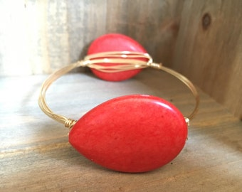 Red Teardrop Bangle